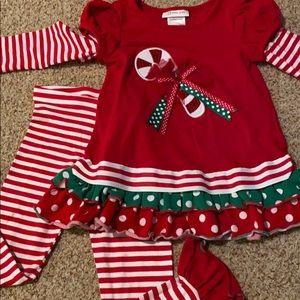 4T Christmas legging set